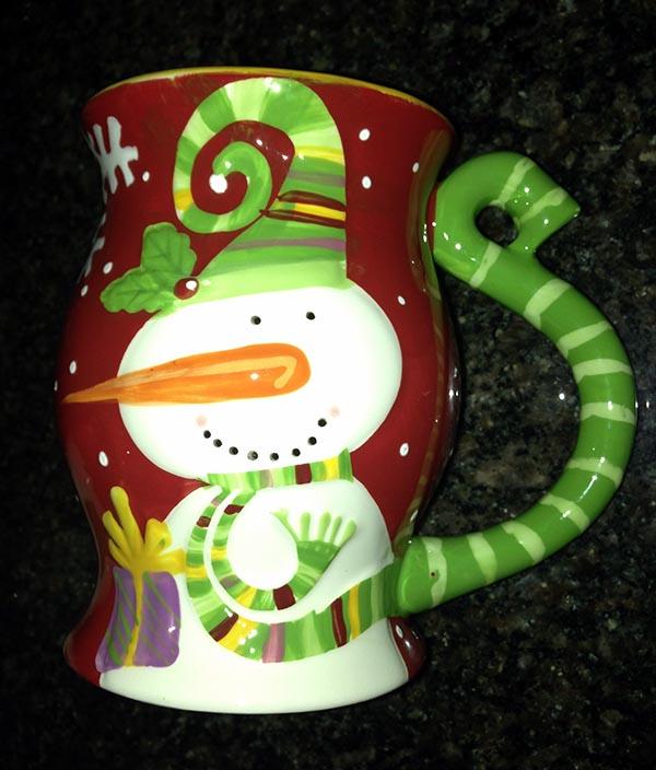 Pier1 Import Snowman Mug