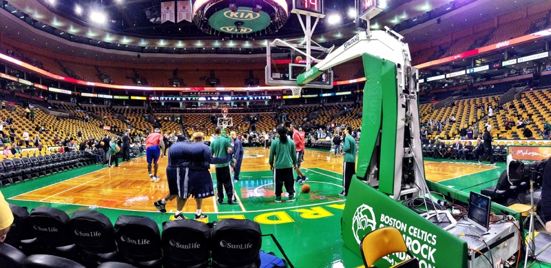 Inside the Garden, pre-game.