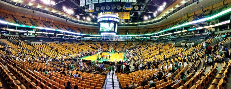 Panorama image of the TD Boston Garden