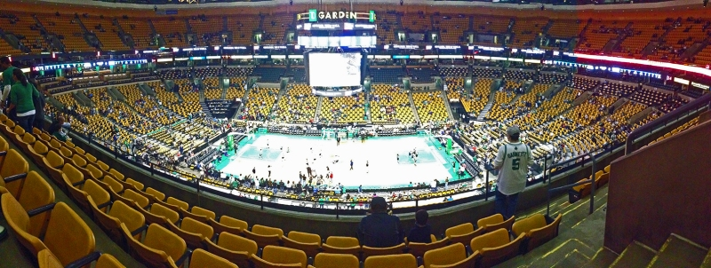 Panorama of TD Boston Garden, Balcony seats