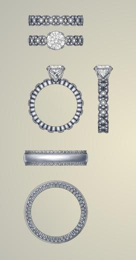 "DIVA Design Contest for WJA-1st Place-""Irie"" Wedding Set"