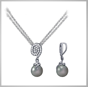 Pearl spiral pendant