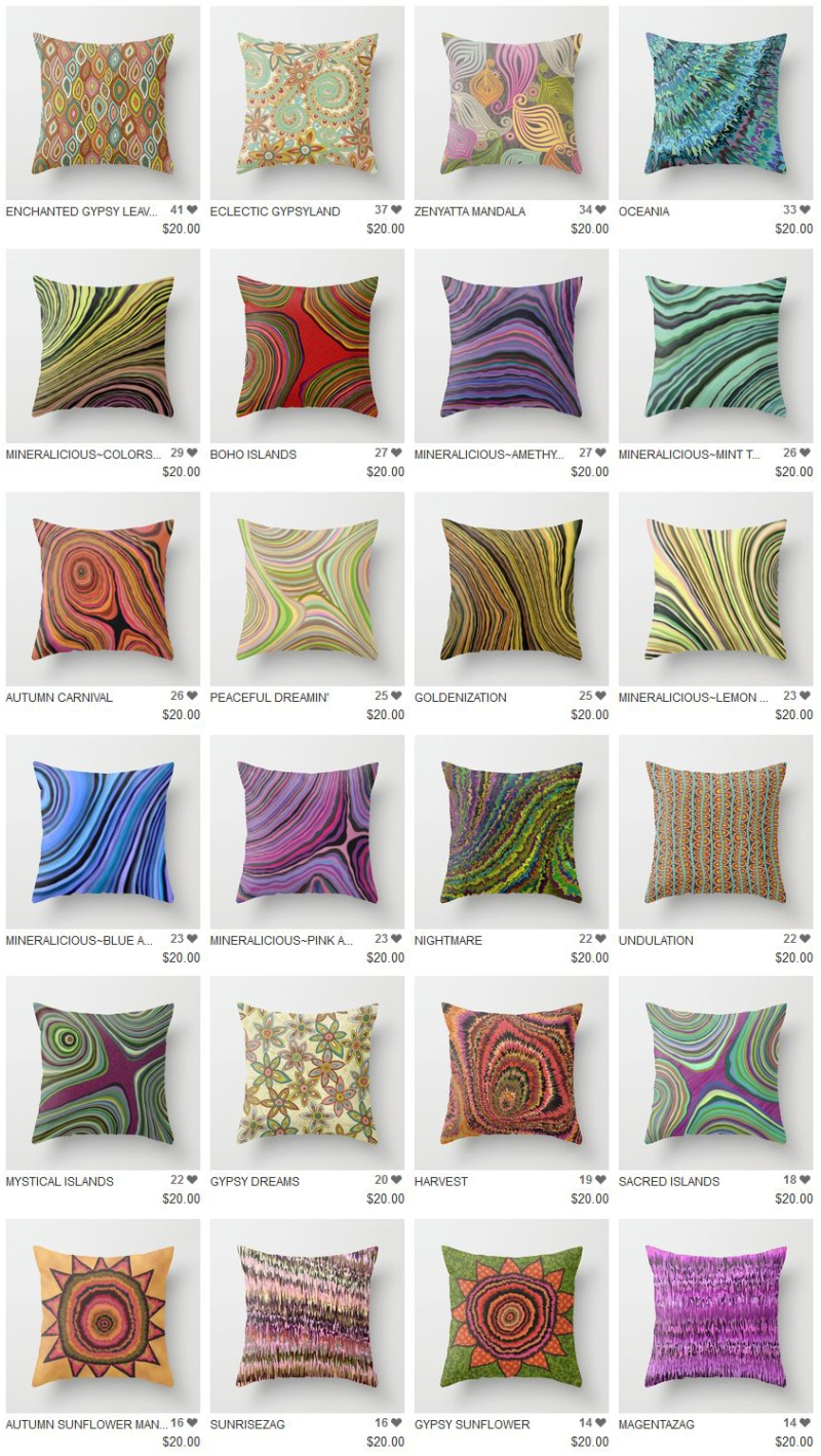 Society6 pillows for sale