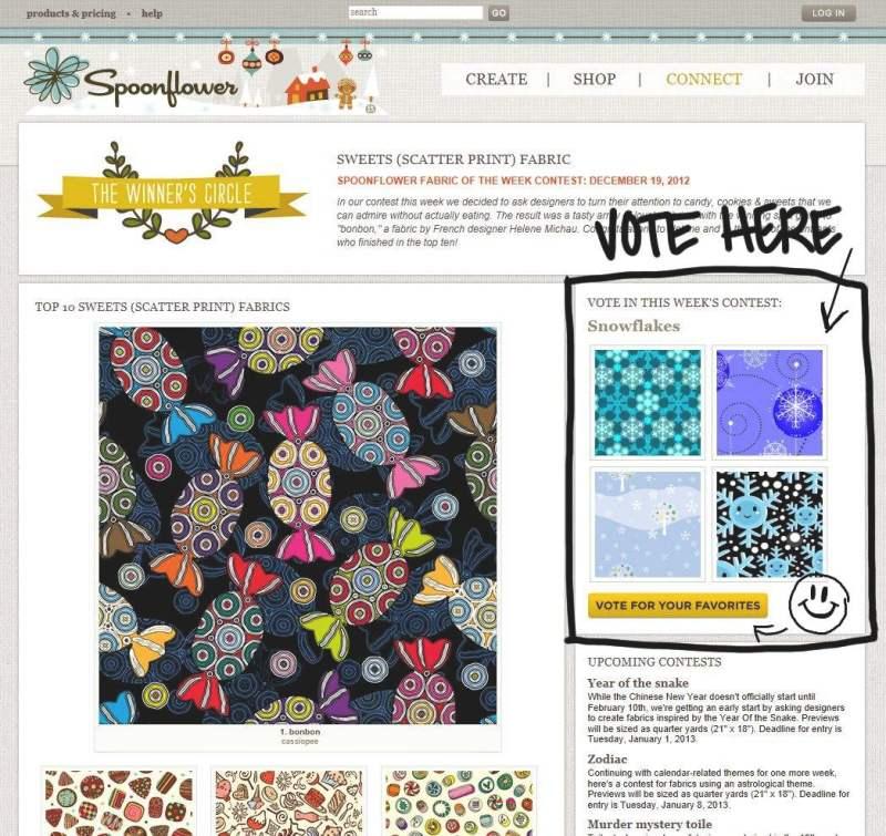 Spoonflower snowflake contest