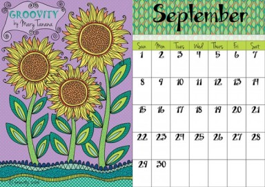 September 2013 Calendar Page by Mary Tanana