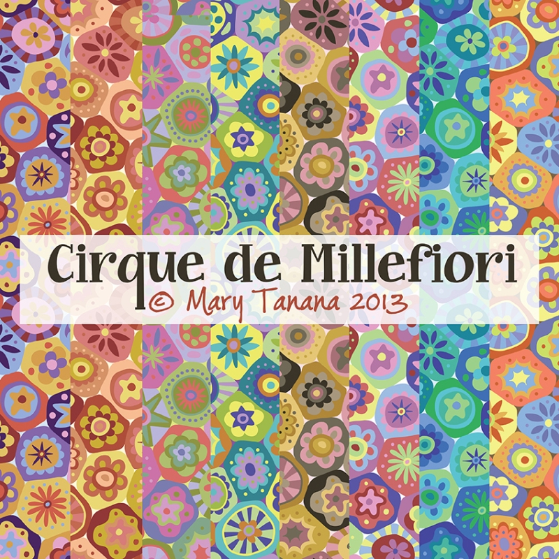 Millefiori-thinner border-color-Sunset