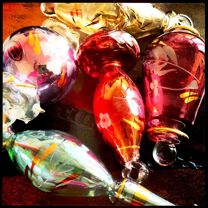 #glass #vintage #shiny #ornaments