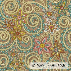 #henna #paisley #flower #floral #hennasurfacepattern #spiral #scroll #groovitydesigns #marytanana