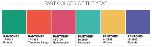 past colors of the year