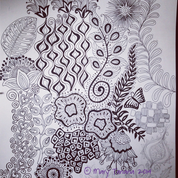 Tropical Fusion sketches-© Mary Tanana 2014