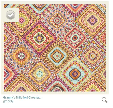 Granny's Millefiori Quilt- by Mary Tanana © 2014-on Spoonflower