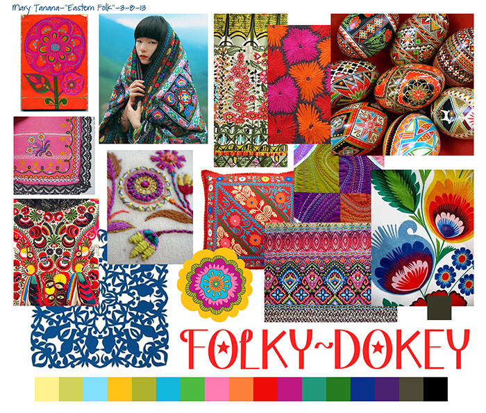 Folky-Dokey Mood Board by Mary Tanana
