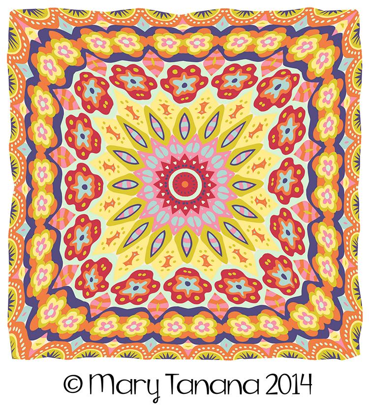 Granny's Millefiori Quilt-#18 by Mary Tanana © 2014
