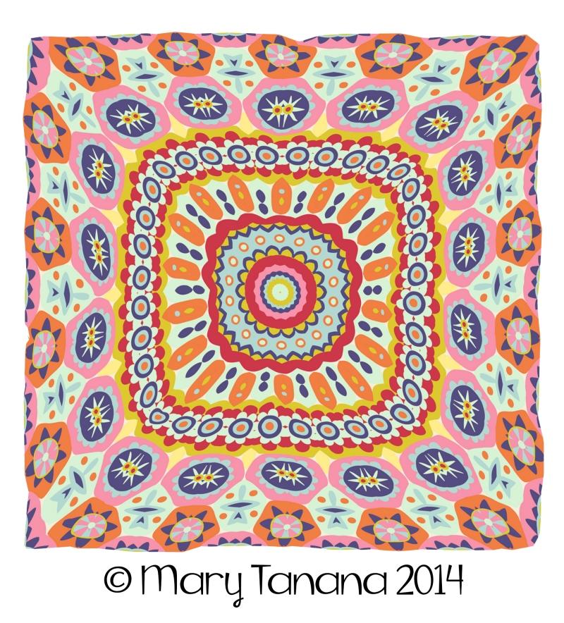 Granny's Millefiori Quilt-#23 by Mary Tanana © 2014