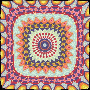 Granny's Millefiori Quilt-#5-by Mary Tanana © 2014
