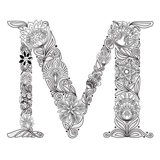 M initial sketch © Mary Tanana 2014