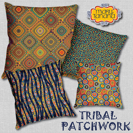 © Mary Tanana 2014-Tribal Patchwork