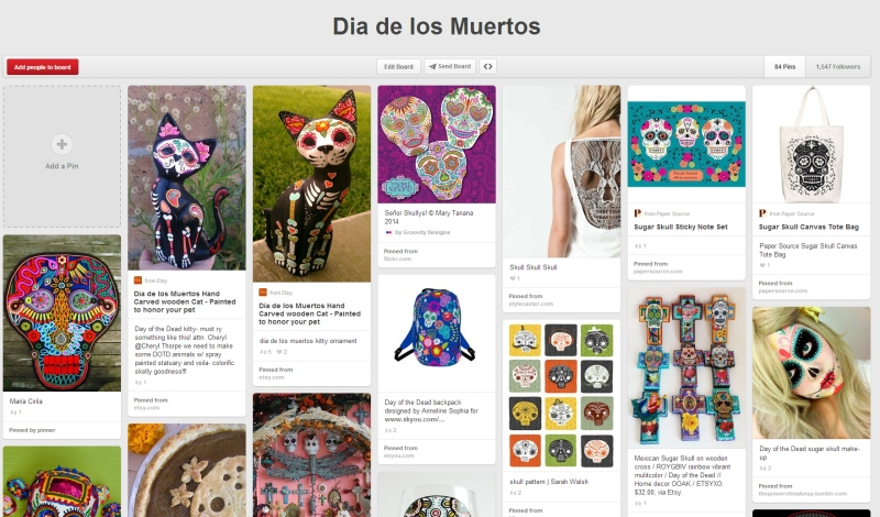 Pinterest page for Mary Tanana