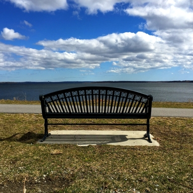 © Mary Tanana 2015 rocky point park-bench-narragansett bay