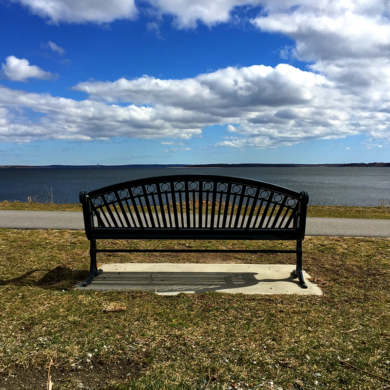rocky point park-bench-narragansett bay © Mary Tanana 2015