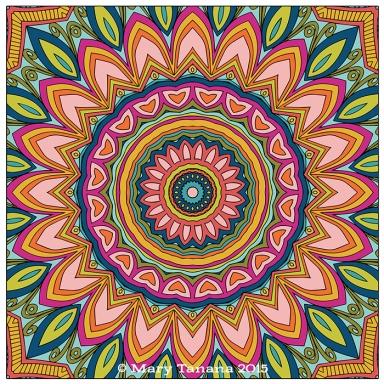 Kaleidoscope Mandala 17.2 © Mary Tanana 2015
