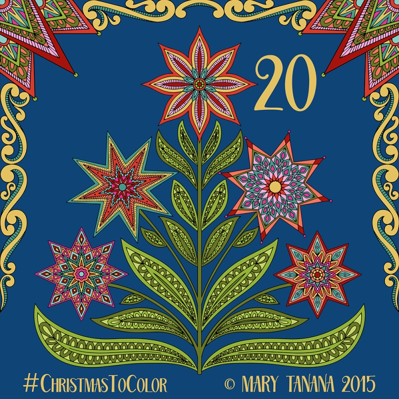 © Mary Tanana 2015 Christmas to Color- Star Tree