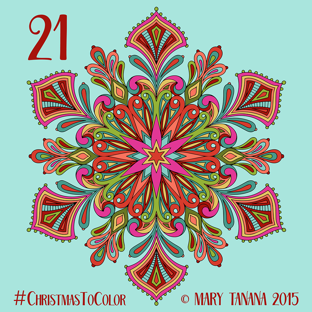Christmas To Color Advent Time Part 3